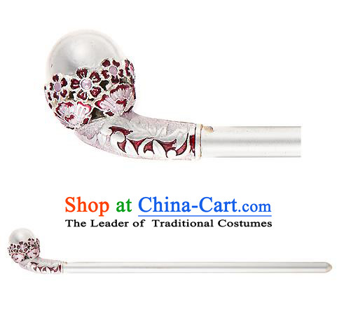 Traditional Korean Hair Accessories Bride Crystal Hairpins, Asian Korean Fashion Headwear Pearls Hair Clip for Women