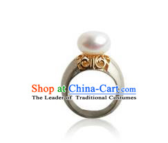 Traditional Korean Accessories Pearl Rings, Asian Korean Fashion Wedding Finger Ring for Women