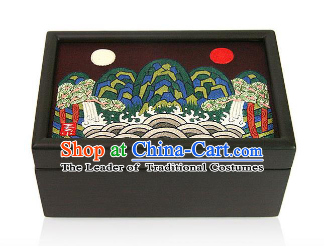Traditional Korean Craft Handmade Card Case, Asian Korean Wedding Jewellery Box for Women