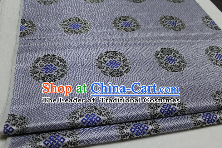 Chinese Traditional Royal Palace Pattern Mongolian Robe Grey Tapestry Cheongsam Fabric, Chinese Ancient Costume Satin Hanfu Tang Suit Material