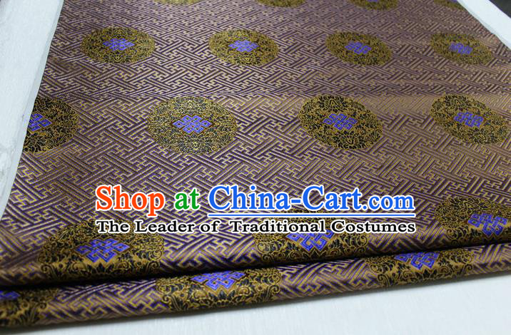 Chinese Traditional Royal Palace Pattern Mongolian Robe Bronze Tapestry Cheongsam Brocade Fabric, Chinese Ancient Costume Satin Hanfu Tang Suit Material