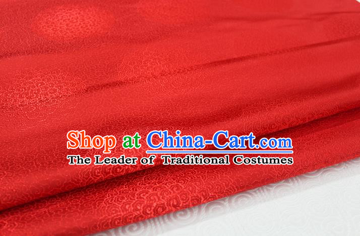 Chinese Traditional Royal Palace Mongolian Robe Red Brocade Cheongsam Fabric, Chinese Ancient Costume Satin Hanfu Tang Suit Material