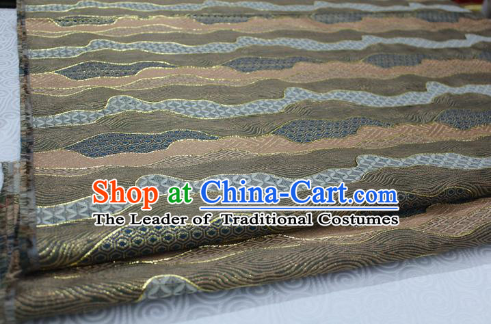 Chinese Traditional Palace Pattern Tang Suit Cheongsam Brocade Fabric, Chinese Ancient Costume Hanfu Satin Material