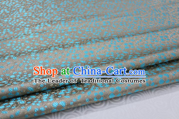 Chinese Traditional Ancient Costume Palace Flowers Pattern Cheongsam Grey Brocade Tang Suit Fabric Hanfu Material