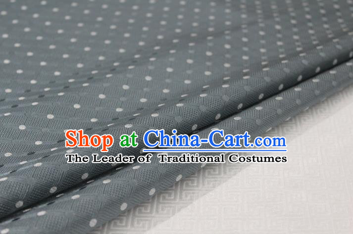 Chinese Traditional Ancient Costume Palace Pattern Mongolian Robe Cheongsam Grey Brocade Tang Suit Fabric Hanfu Material