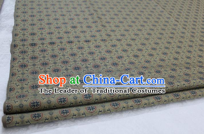 Chinese Traditional Ancient Costume Palace Pattern Mongolian Robe Ginger Brocade Tang Suit Fabric Hanfu Material