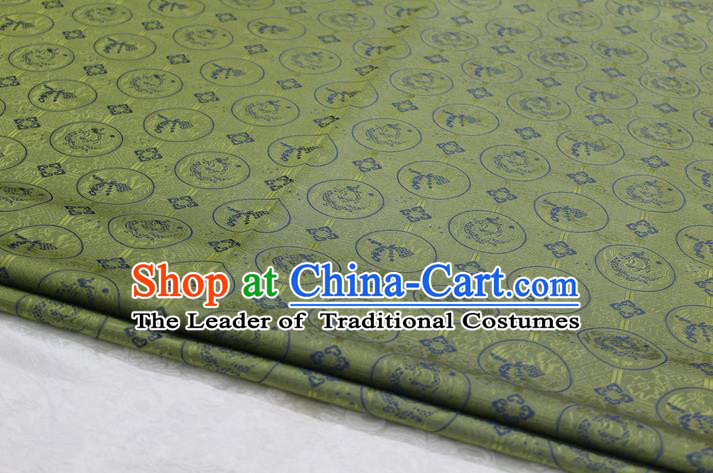 Chinese Traditional Ancient Costume Palace Pattern Mongolian Robe Brocade Cheongsam Satin Fabric Hanfu Material