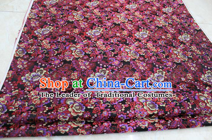 Chinese Traditional Ancient Costume Palace Pattern Brocade Cheongsam Satin Fabric Hanfu Material