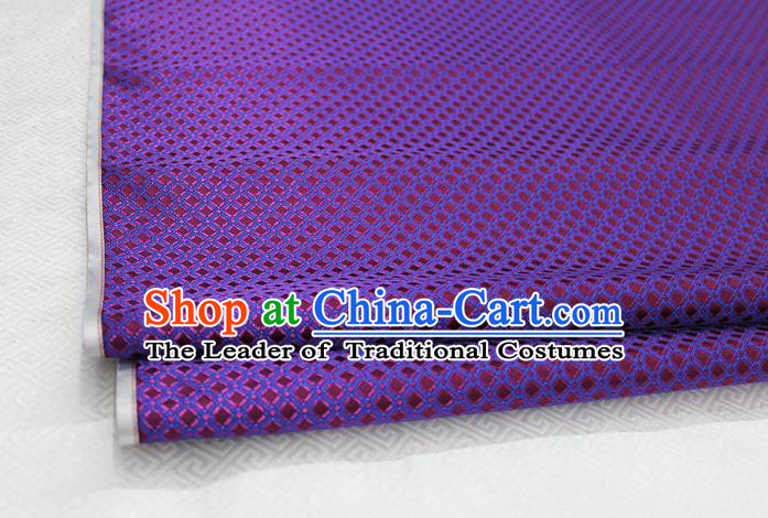 Chinese Traditional Ancient Costume Palace Pattern Purple Brocade Cheongsam Satin Mongolian Robe Fabric Hanfu Material