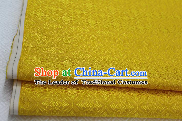 Chinese Traditional Ancient Costume Palace Pattern Cheongsam Golden Brocade Tang Suit Fabric Hanfu Material
