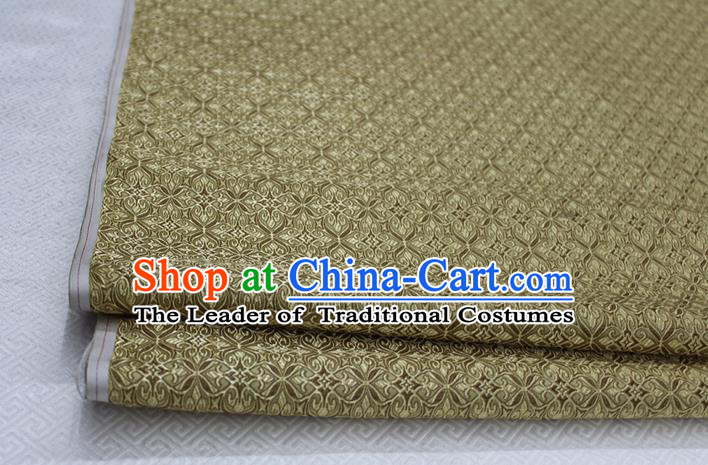 Chinese Traditional Ancient Costume Palace Pattern Cheongsam Curtain Bronze Brocade Tang Suit Fabric Hanfu Material