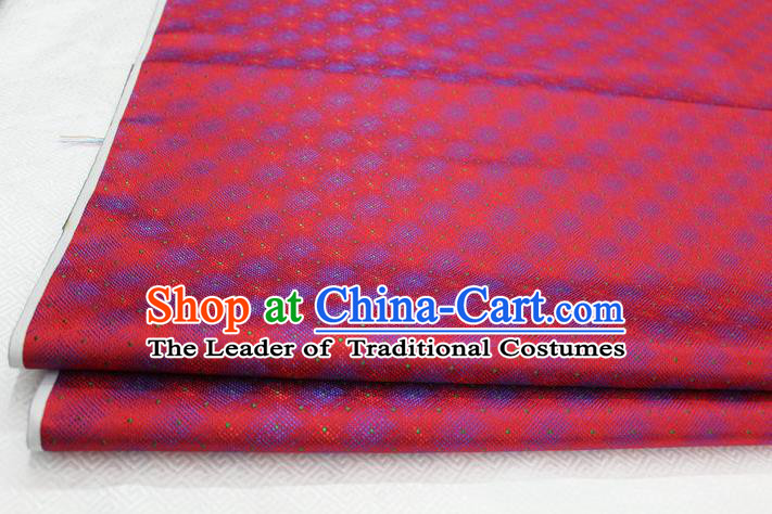 Chinese Traditional Ancient Costume Palace Pattern Red Brocade Cheongsam Satin Mongolian Robe Fabric Hanfu Material