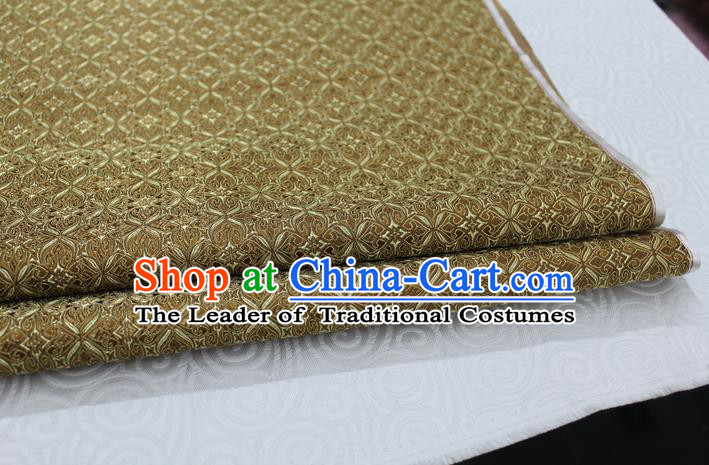 Chinese Traditional Ancient Costume Palace Pattern Cheongsam Curtain Mud Golden Brocade Tang Suit Fabric Hanfu Material