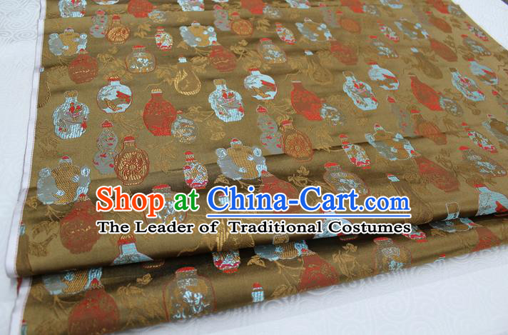 Chinese Traditional Ancient Costume Palace Vase Pattern Cheongsam Brocade Tang Suit Fabric Hanfu Material
