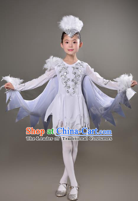 Traditional Chinese Modern Dance Costume, Folk Dance Drum Dance Uniform Yangko Clothing for Kids
