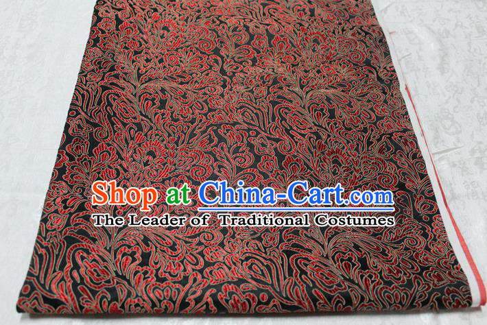 Chinese Traditional Ancient Costume Palace Phoenix Flower Pattern Tang Suit Brocade Cheongsam Satin Fabric Hanfu Material