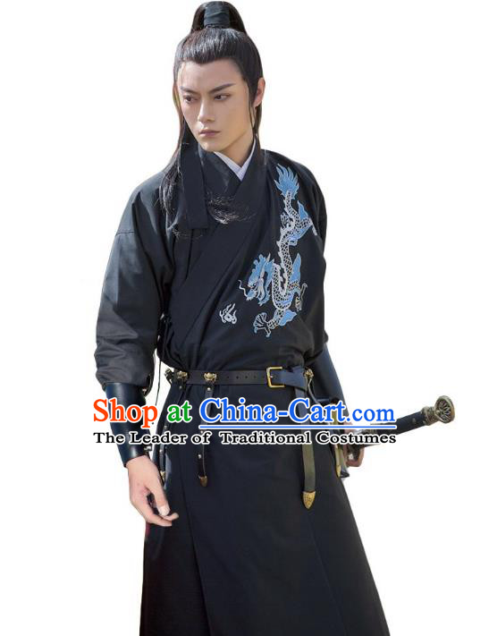 Traditional Chinese Ming Dynasty Swordsman Imperial Guards Hanfu Embroidered Clothing for Men