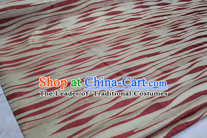 Chinese Traditional Clothing Mongolian Robe Tang Suit Red Brocade Ancient Costume Palace Pattern Satin Fabric Hanfu Material