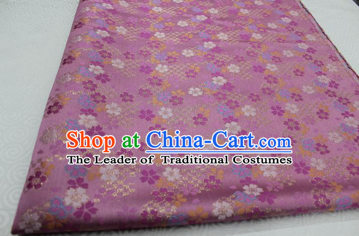 Chinese Traditional Clothing Palace Pattern Kimono Cheongsam Pink Brocade Ancient Costume Satin Fabric Hanfu Material
