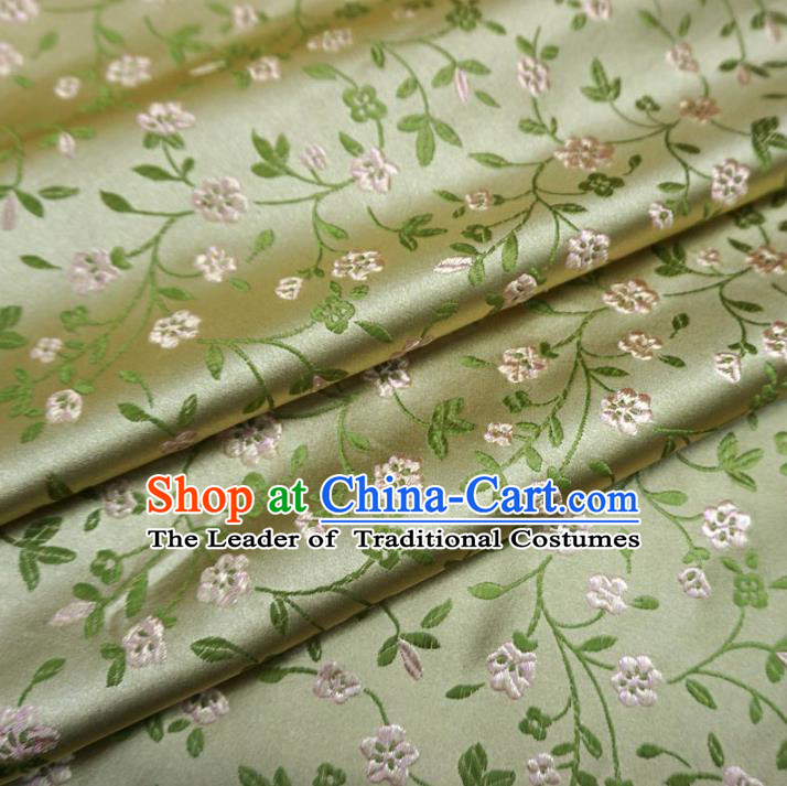 Chinese Traditional Royal Court Dragons Flowers Pattern Golden Brocade Ancient Costume Tang Suit Cheongsam Bourette Fabric Hanfu Material
