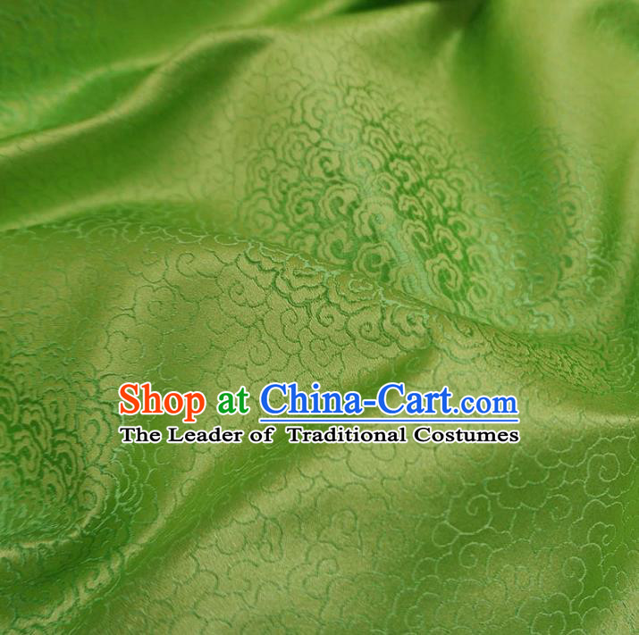 Chinese Traditional Royal Court Pattern Green Brocade Xiuhe Suit Fabric Ancient Costume Tang Suit Cheongsam Hanfu Material