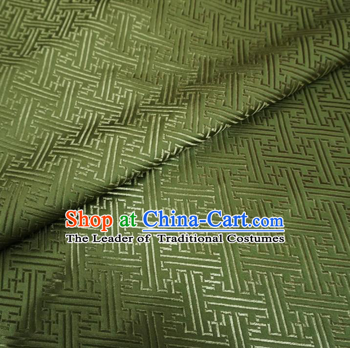 Chinese Traditional Royal Palace Pattern Design Green Brocade Mongolian Robe Fabric Ancient Costume Tang Suit Cheongsam Hanfu Material