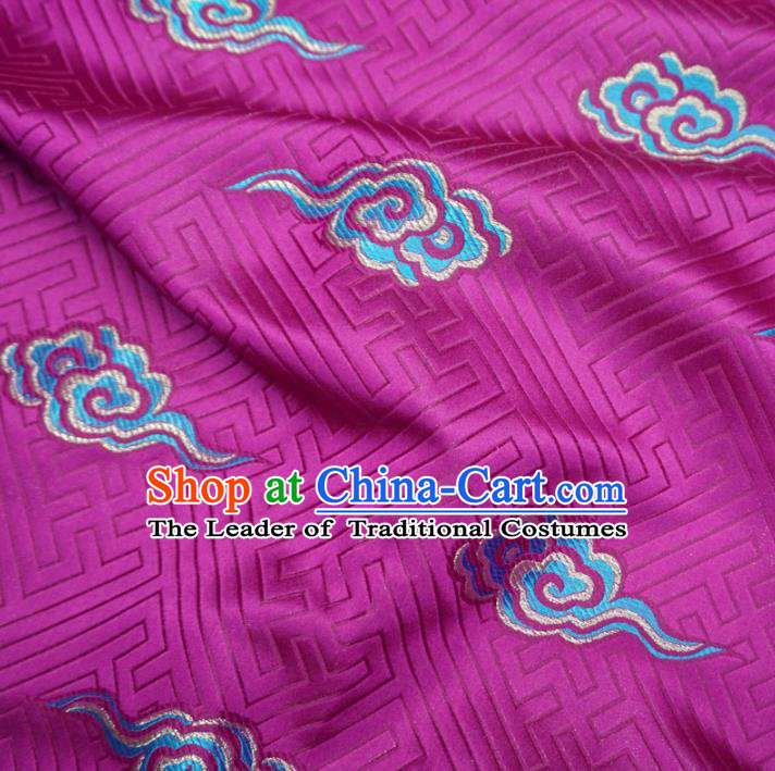 Chinese Traditional Royal Palace Clouds Pattern Design Rosy Brocade Xiuhe Suit Fabric Ancient Costume Tang Suit Cheongsam Hanfu Material