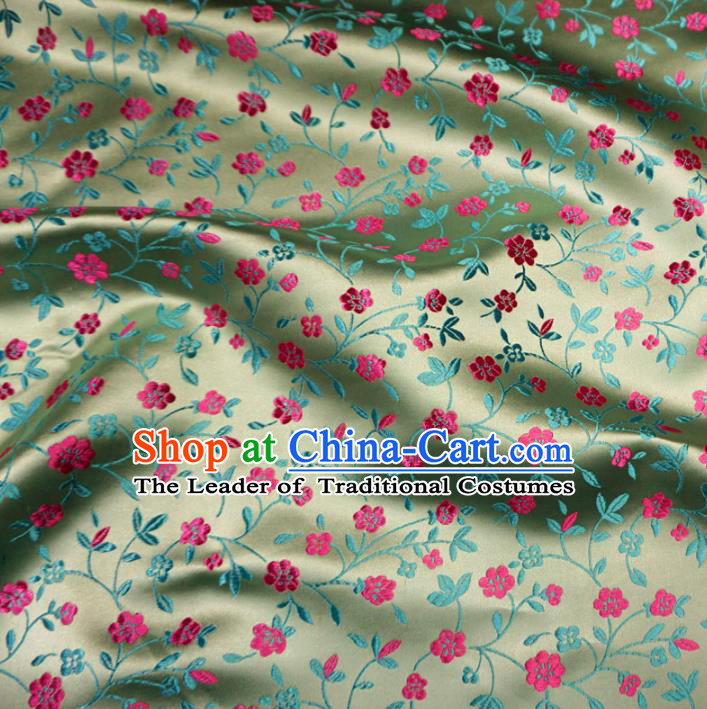 Chinese Traditional Royal Palace Pattern Design Green Brocade Fabric Ancient Costume Tang Suit Cheongsam Hanfu Material