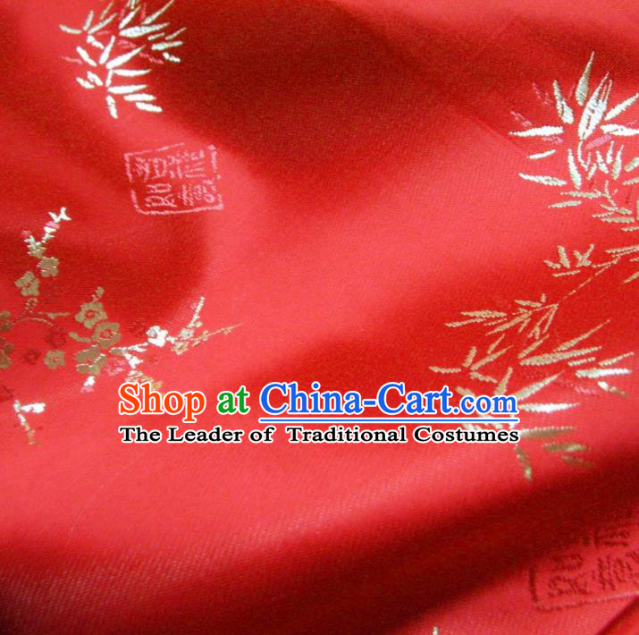 Chinese Traditional Royal Palace Bamboo Pattern Design Hanfu Brocade Xiuhe Suit Fabric Ancient Costume Tang Suit Cheongsam Material