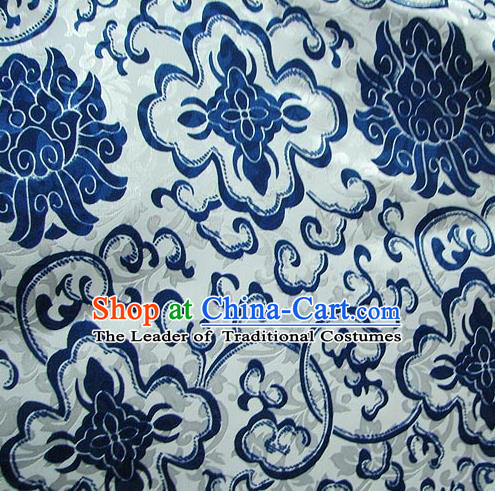 Chinese Traditional Royal Palace Lotus Pattern Design Hanfu Brocade Xiuhe Suit Fabric Ancient Costume Tang Suit Cheongsam Material