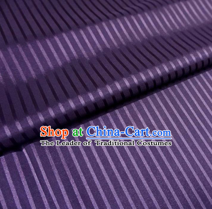 Chinese Traditional Palace Pattern Hanfu Purple Brocade Fabric Ancient Costume Tang Suit Cheongsam Material