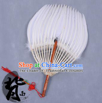 Traditional Chinese Crafts Folding Fan China Feather Fan Oriental Fan Tai Ji Fans