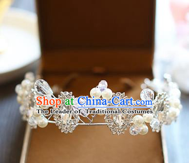 Chinese Traditional Bride Hair Jewelry Accessories Baroque Princess Wedding Crystal Royal Crown for Women