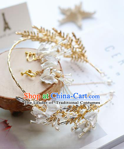 Chinese Traditional Bride Hair Jewelry Accessories Wedding Hair Clasp Beads Royal Crown for Women