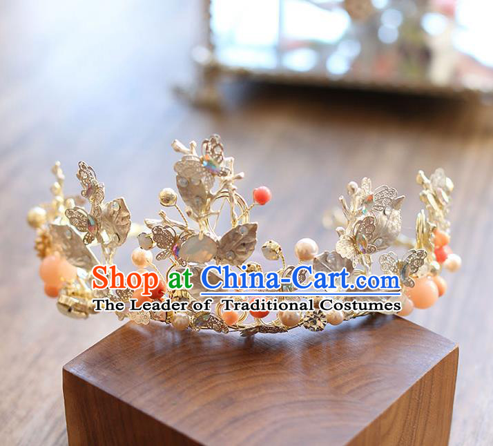 Chinese Traditional Bride Hair Jewelry Accessories Wedding Baroque Retro Opal Hair Clasp for Women