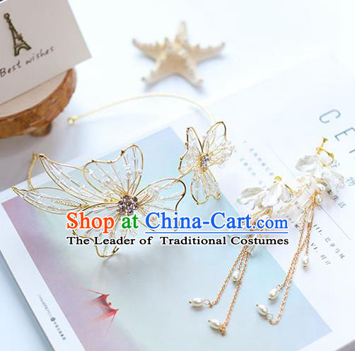 Chinese Traditional Bride Hair Jewelry Accessories Wedding Hair Clasp Royal Crown for Women