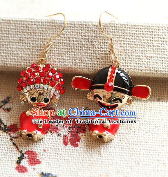 Chinese Traditional Bride Jewelry Accessories Princess Wedding Xiuhe Suit Earrings for Women