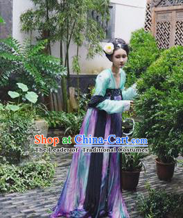 Traditional Chinese Tang Dynasty Palace Lady Dress Clothing Ancient Princess Hanfu Embroidered Costume for Women