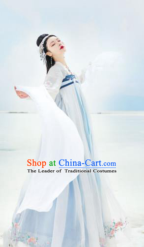 Traditional Chinese Tang Dynasty Palace Lady Hanfu Clothing Ancient Princess Embroidered Costume for Women