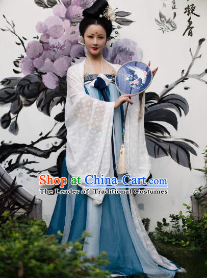 Traditional Chinese Tang Dynasty Imperial Concubine Hanfu Clothing Ancient Palace Lady Embroidered Costume for Women