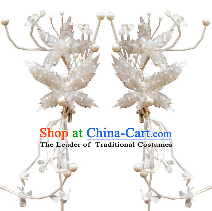 Chinese Traditional Bride Hair Jewelry Accessories Wedding Baroque Retro Butterfly Hair Stick for Women