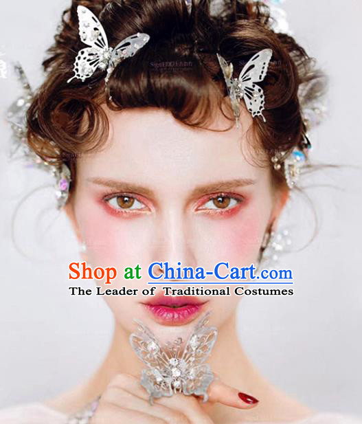 Chinese Traditional Bride Hair Jewelry Accessories Wedding Butterfly Hairpins for Women