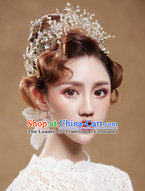 Chinese Traditional Bride Hair Jewelry Accessories Wedding Hair Clasp  for Women