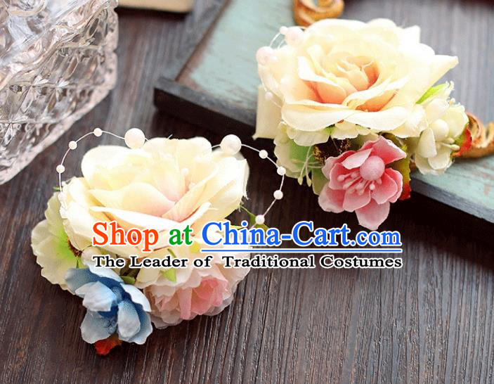 Chinese Traditional Bride Hair Accessories Wedding White Peony Flower Hair Stick for Women