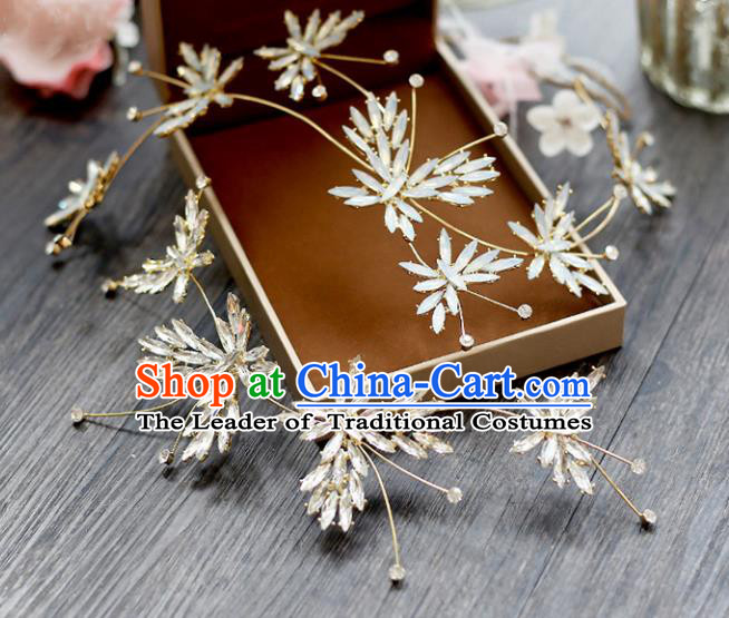 Chinese Traditional Bride Hair Accessories Wedding Opal Hair Stick Headwear for Women