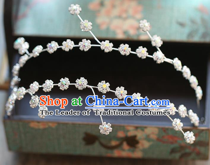Chinese Traditional Bride Hair Accessories Baroque Wedding Flowers Hair Clasp for Women