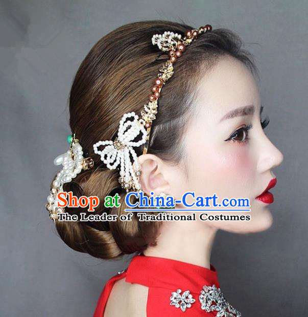 Chinese Traditional Bride Hair Accessories Baroque Wedding Hair Clasp and Hair Stick Complete Set for Women