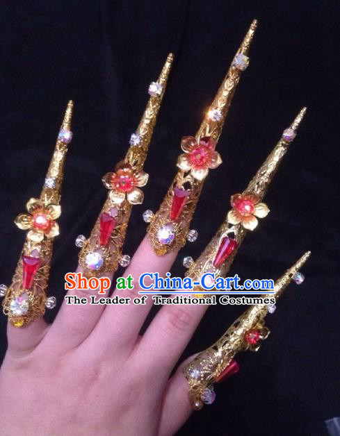 Chinese Traditional Wedding Finger Accessories Ancient Princess Nail Wrap for Women