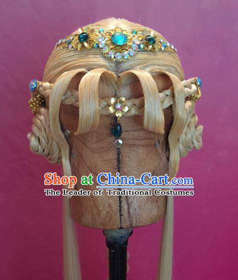 Chinese Traditional Ancient Young Lady Hair Accessories Handmade Palace Princess Hairpins Hair Clasp for Women