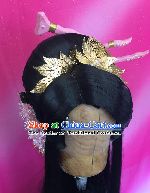 Chinese Traditional Ancient Palace Lady Hair Accessories Handmade Princess Hairpins for Women